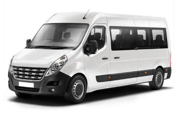 Auto voor maximaal 12 passagiers